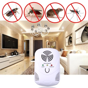 6W Electronic Ultrasonic Mouse Killer Mouse Cockroach Trap Mosquito Repelle(White) - intl - 2