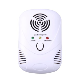 6W Electronic Ultrasonic Mouse Killer Mouse Cockroach Trap Mosquito Repelle(White) - intl