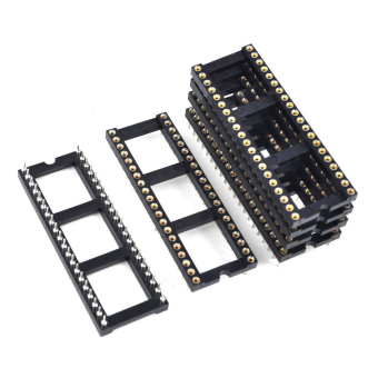 6x 2.54mm Pitch 40 Round Pins Double Row DIP IC Socket Adapter Solder - 3