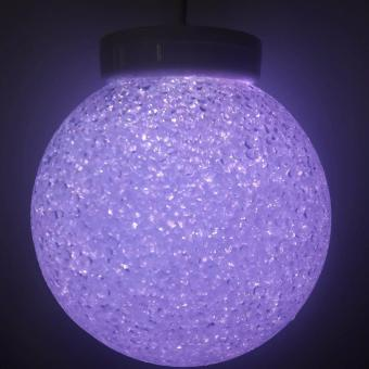 7 Colors Fiberglass Crystal Christmas Ball 20cm x-mas Light Mabuhay Star ICC Complaint - 3