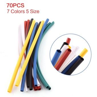 70pcs Halogen-free 2:1 Heat Shrink Tubing Wrap Cable SleeveShrinkable Tube - intl - 5