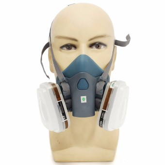 7pcs Silicone Comfort Suit Respirator Painting Spraying Face Gas Mask Fr 3M 7502 - intl