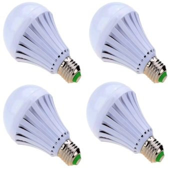 7W LED Home Emergency Intelligent Finger Led Bulb Light LampRechargeable Magical Water Bulb set of 4