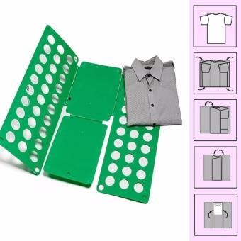 8 Colors Fashion Fashion Laundry Adult Child Magic Fast Speed Clothes Folder T shirt Fold Board Organizer - intl - 2