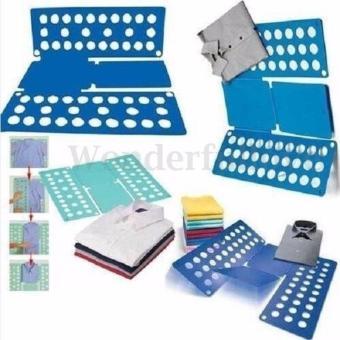 8 Colors Fashion Fashion Laundry Adult Child Magic Fast Speed Clothes Folder T shirt Fold Board Organizer - intl - 3