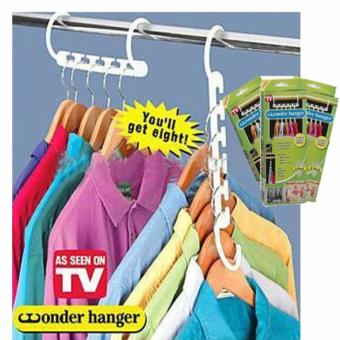 8 Pieces Portable Space Saver Wonder Magic Hanger Coat ClothesCloset Organizer