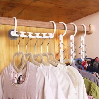 8 Pieces Portable Space Saver Wonder Magic Hanger Coat ClothesCloset Organizer Hooks