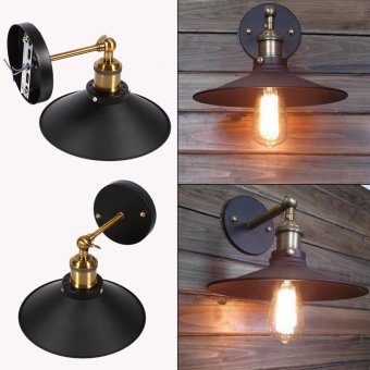 85~265V Vintage E27 Loft Industrial Style Metal Wall Light Retro Decor Lamp - intl