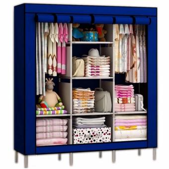 88130 High Quality Multifunctional Dustproof High Capacity Wardrobe Storage Cabinet (Blue)