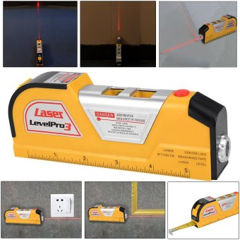 8FT Laser Level Horizon Vertical Line Tape Aligner Ruler Accurate Measure BI163
