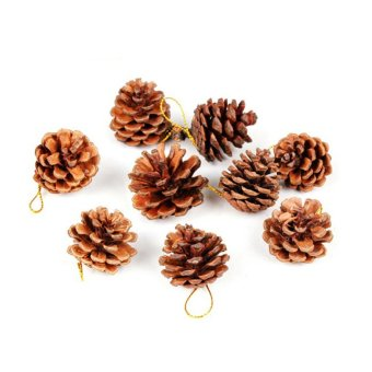 9 X Christmas Pine cones XMAS Tree Hanging Ornament Christmas Decorations 4.5cm - Intl