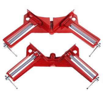 90 degree Right Angle Clamp 100MM Clamps Red - 4