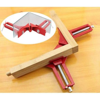 90 degree Right Angle Clamp 100MM Clamps Red - 3
