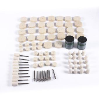 90Pcs Abrasive Soft Felt Polishing Buffing Clean Wheel Mixed Kit for Rotary Tools - intl