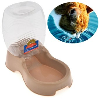 946.3 ml Large Capacity Seater Type Plastic Pet Puppy AutomaticDrinker Drinking Bowl Cat Water Drink Bottle Waterer Dog WaterFountain Gray