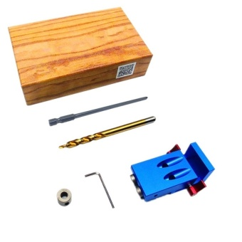 9.5mm Hand Tools Woodworking Pocket Hole Jig Kit Step Drill Bit Stop Collar For Kreg Manual Pilot Wood Drilling Hole Saw Master System - intl