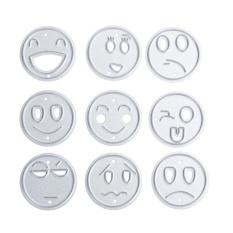 9pcs Cutting Dies Stencil Emoji Metal Stencils For DIY ScrapbookingPhoto - intl