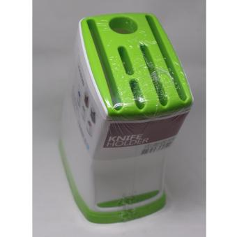 A116 6 Holes Plastic Fashionable Knife Holder Green
