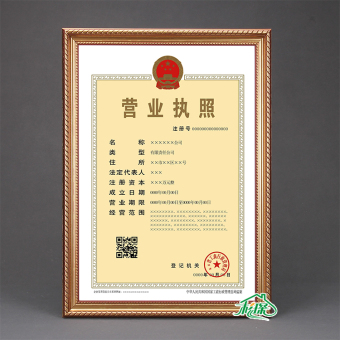 A4/A3 gold authorized book wall document frame certificate Frame