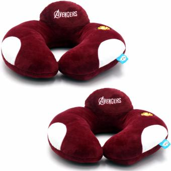 AAA U Shaped Travel Pillow Neck Support Head (Color May Vary) Set Of 2