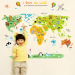 Abc1049 cartoon Foreign Trade English world map wall stickers