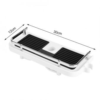 ABS Shower Rod Storage Shelf Organizer Tray Holder PracticalBathroom Accessory - intl - 5