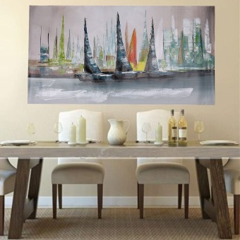Abstract Large Wall Decor Modern Boat Oil Painting On Art Canvas (No Framed) - intl - 2