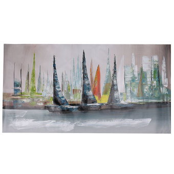 Abstract Large Wall Decor Modern Boat Oil Painting On Art Canvas (No Framed) - intl - 4