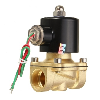 AC 220V 3/4'' Brass Electric Solenoid Valve Water Air Fuels Black 2W-200-20 - intl