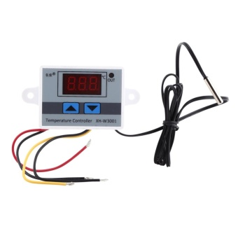AC220V High Precision Digital Thermostat Control TemperatureController Switch with Probe - intl