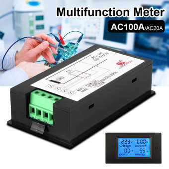 AC80-260V 100A LCD Digital Volt Watt Current Power Meter Ammeter Voltmeter BI507