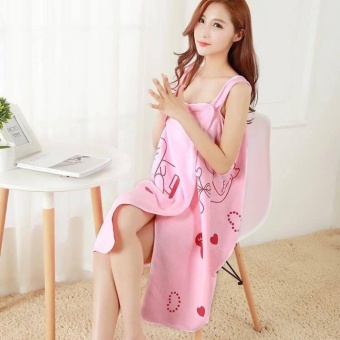 ACB Wearable Fast Drying Towel Bathrobe Bath Dress