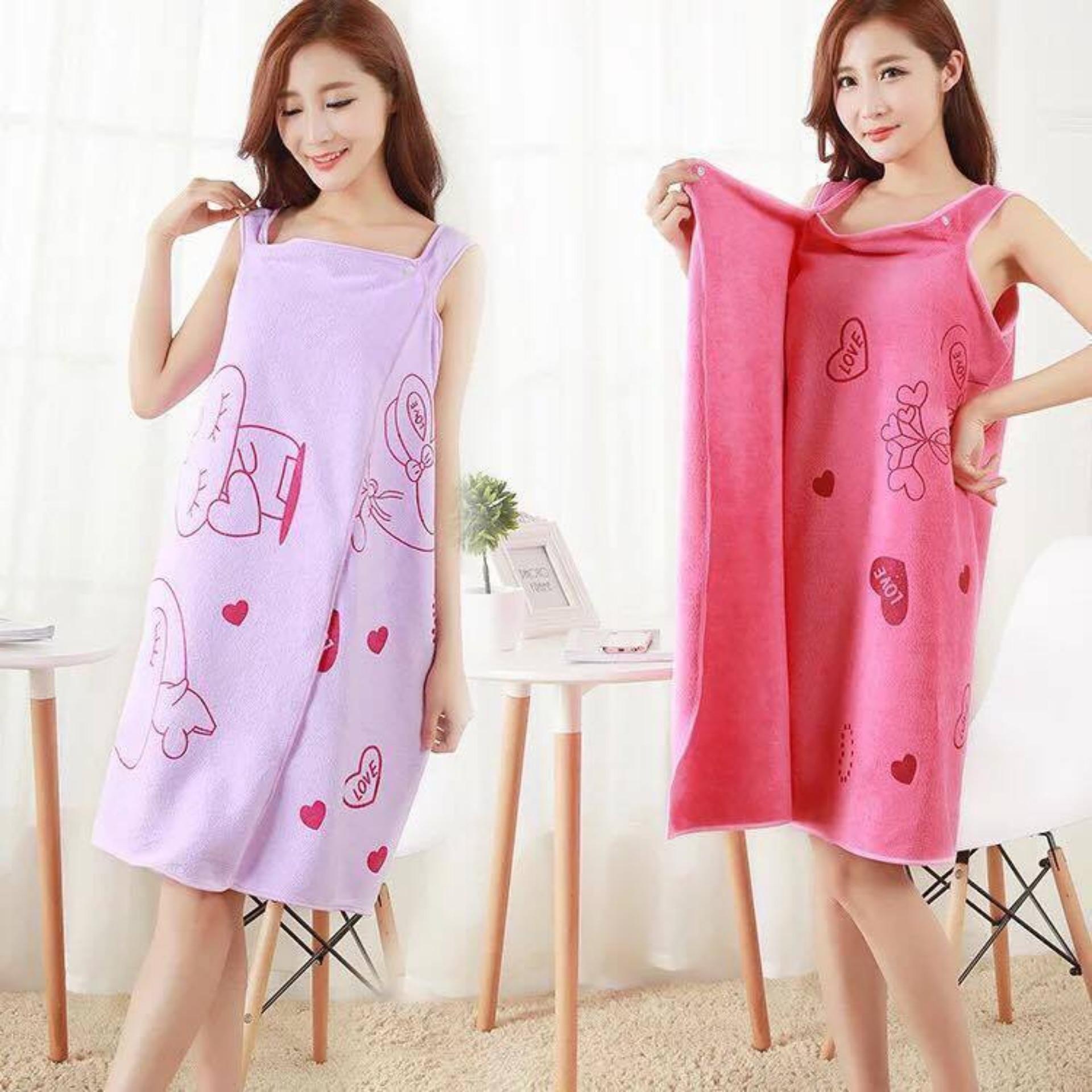 ACB Wearable Fast Drying Towel Bathrobe Bath Dress