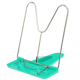 Adjustable Angle Foldable Portable Reading Book Stand Document Holder Desk Green - intl