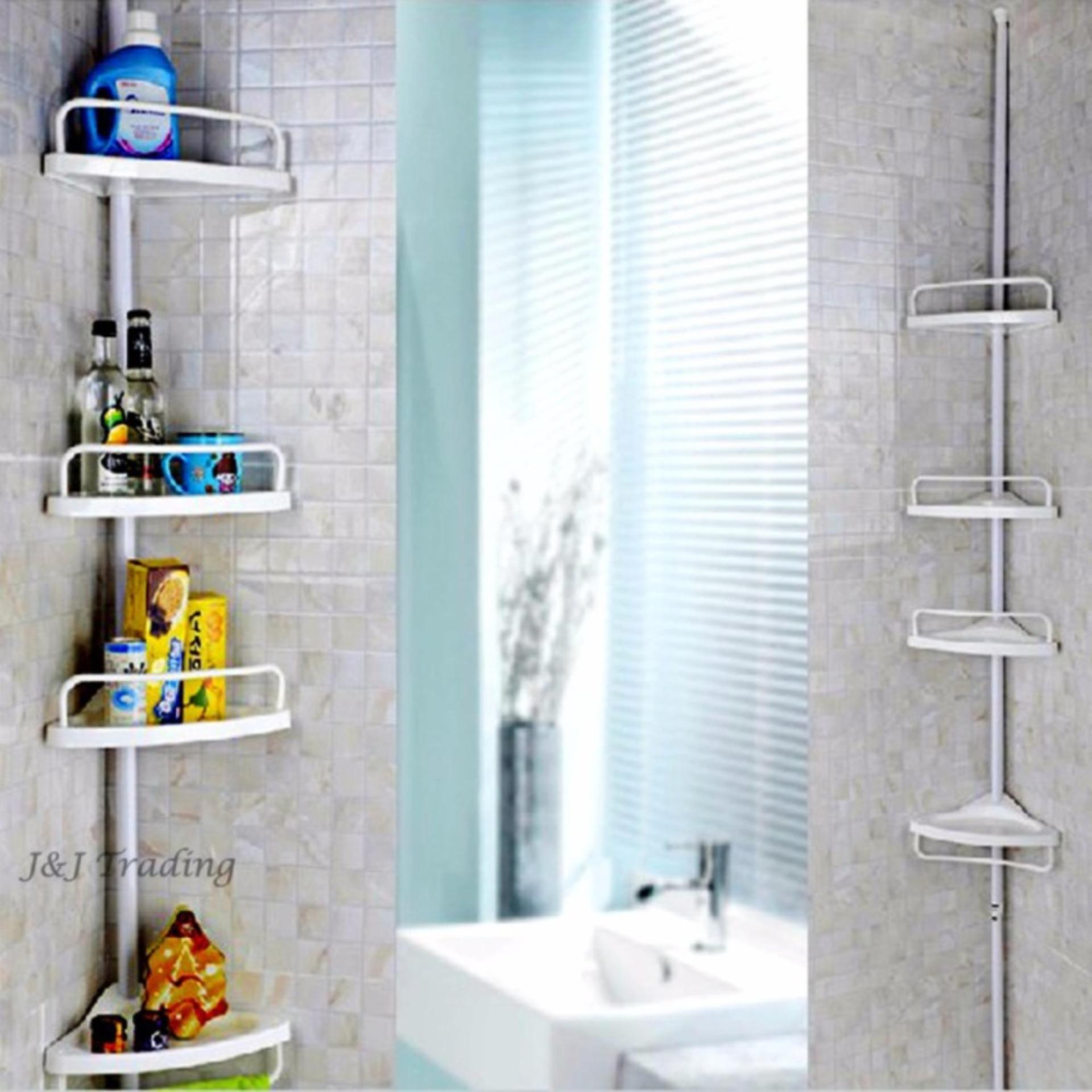 Philippines | Adjustable Bathroom Corner Pole Caddy Shower Organizer ...