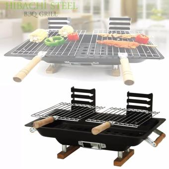 Adjustable BBQ Grill Hibachi Steel (Black) Price Philippines