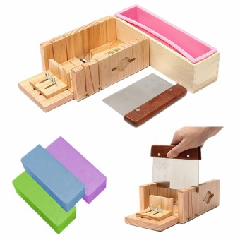 Adjustable Silicone Soap Mold Wooden Box Toast Cake Maker DIY Tool Slicer Cutter - intl