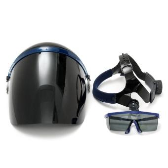 Adjustable Welding Helmet ARC TIG MIG Welder Lens Grinding Mask + Safety Goggles Black Cover + PC Black Screen - intl - 5