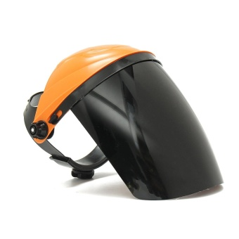 Adjustable Welding Helmet ARC TIG MIG Welder Lens Grinding Mask + Safety Goggles Orange Cover + PC Black Screen - intl - 2