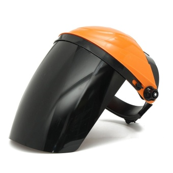Adjustable Welding Helmet ARC TIG MIG Welder Lens Grinding Mask + Safety Goggles Orange Cover + PC Black Screen - intl