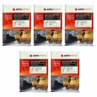 Agfa Inkjet Glossy Photo Paper 240GSM 4R Pack of 5