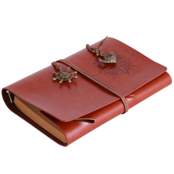 Ai Home Vintage Blank Pages String Notebook Journal Diary Brown