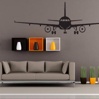 Airplane PVC Art Picture Decoration Wall Sticker Wallpaper(L) - intl
