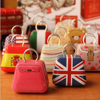 Ajusen 12 Pcs/Lot Handbags / Mini Candy Box / Creative WeddingFavor Boxes Gift Tin Box With Lids Candy Earphone Ring Boxes - intl