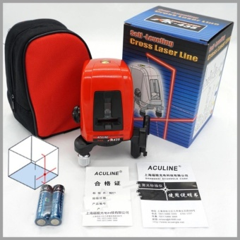 AK435 360 degree self-leveling Cross Laser Level 1V1H Red 2 line 1 point Rotary Horizontal Vertical Red Laser Levels Cross laser - intl
