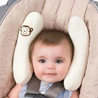 Allwin Infant Cradler Baby Toddler Head Support Kid Travel Neck Pillow Protection White