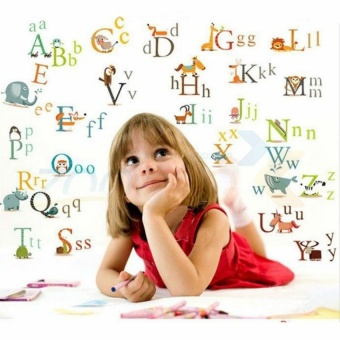 Alphabet Nursery Decor Wall Stickers For Kids Room Decorative Parede Removable PVC Wall Decals - intl
