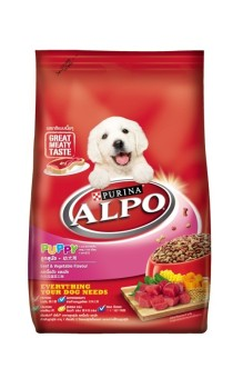 Alpo Puppy Beef & Vegetables With Milk Essentials 450G Pack Of 6