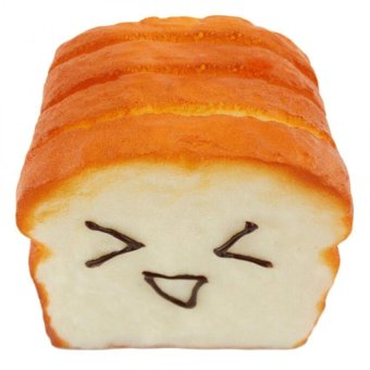 Amango Kawaii Jumbo Toast Squishy Expression Card CellphoneHolderHand Pillow