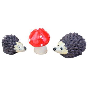Amango Miniature Hedgehog Garden Ornament 3pcs